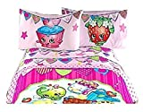 Shopkins Deluxe Microfiber Complete Sheet Set w/ Pillow Cases - Full by Moose Shopkins