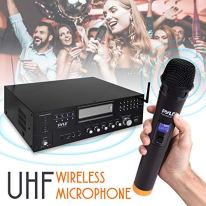 4-Channel-Karaoke-Home-Wireless-Microphone-Amplifier-Audio-Stereo-Receiver-System-Built-in-CD-DVD-Player-Dual-UHF-Wireless-MicMP3USB-Reader-AMFM-Radio-Pyle-PWMA5000BA