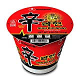 NongShim Shin Big Bowl Noodle Soup, Gourmet Spicy, 4 Ounce (Pack of 12)