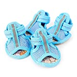 XBKPLO Pet Dog Summer Shoes Breathable Mesh Puppy Outdoor Shoes Soft Sandals