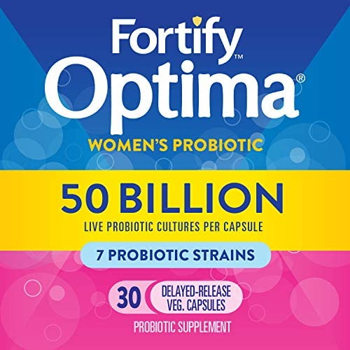 Fortify Optima Women's Daily Probiotic, 50 Billion Live Cultures, 7 Strains, 30 Capsules 4
