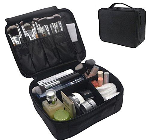 Portable Makeup Train Case Flymei Waterproof Cosmetic Organizer Kit