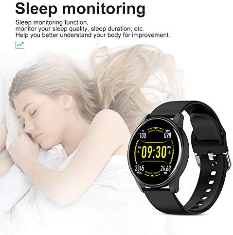 LIGE Smart Watch for Men and Women Heart Rate Sleep Monitor Remote Camera Control Notification Reminder IP67 Waterproof Fitness Exercise Tracker Sedentary Reminder Function Compatible iOS and Android… 4