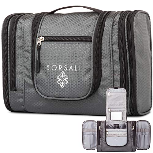Hanging Toiletry Bag for Women & Men by Borsali - Makeup and Toiletries...