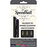 Speedball 002903 Calligraphy Fountain Pen Set - Pen Set - With 1 Pen, 3 Nibs, and  8 Assorted Ink Cartridges