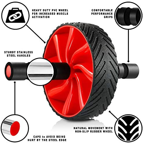 N1Fit Ab Roller Wheel - Sturdy Ab Workout Equipment for Core Workout - Ab Exercise Equipment as Abdominal Muscle Toner - Ab Exercise Equipment Used as at Home Workout Equipment for Both Men & Women 4