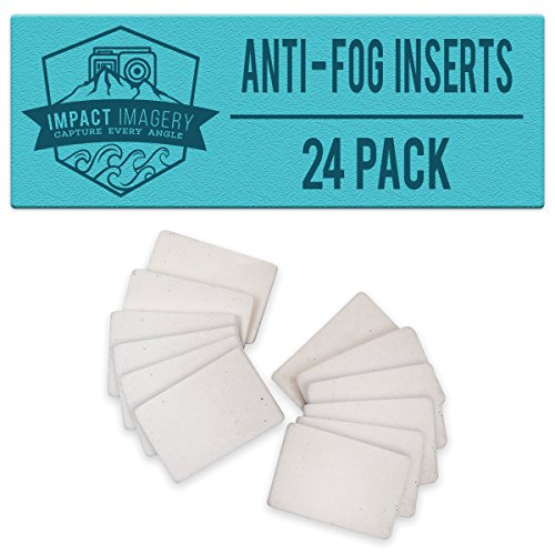 Impact Imagery – Anti Fog Inserts – 24 Pack of Reusable Moisture Absorbing Strips – Humidity Removing Defogger for Underwater Housings – Gopro Hero – SJ4000 SJ5000 – Sony Action Cam