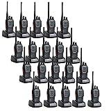 20 Pack Baofeng BF-888S 5W 1500mAh 16 Channel Handheld Walkie Talkie Black