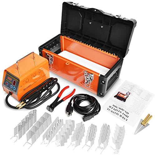 OIMERRY Plastic Welder Hot Stapler with 800pcs Staples, 110V Bumper Plastic Repair Welding Kit