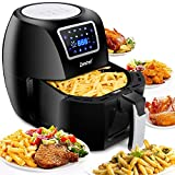 SUPER DEAL ZenChef PRO XXL Hot Air Fryer Family Size 5.8 Qt. 8-in-1 Digital Air fryer + Recipe Books, Upgraded Full Touch Screen, 1800W