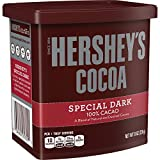 HERSHEY'S Holiday Baking Cocoa, SPECIAL DARK, 8 Ounce, Hot Cocoa, (Pack of 6)