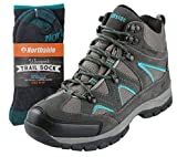 Northside Womens Snohomish Leather Waterproof Mid Hiking Boot (8 M US, Sock Combo)