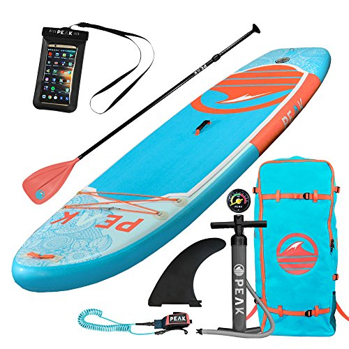Peak Inflatable Stand Up Paddle Board Package
