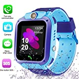zqtech Smart Watch for Kids GPS Tracker - IP67 Waterproof Smartwatches with SOS Voice Chat Camera Alarm Clock Digital Wrist Watch Smartwatch Girls Boys Birthday Gifts (03 Watch)