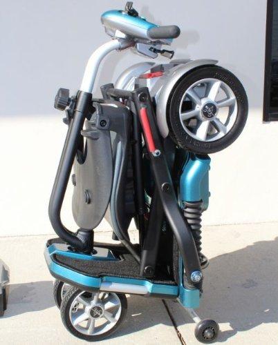 EV Rider Transport Plus - Automatic Folding Scooter Lithium Power Mobility (SeaFoam Blue)