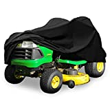 North East Harbor Deluxe Riding Lawn Mower Tractor Cover Fits Decks up to 54' - Black - Water and UV Resistant Storage Cover
