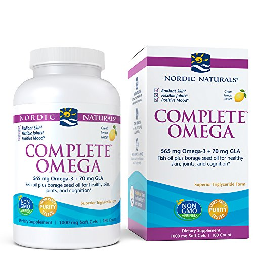 Nordic Naturals Complete Omega - Omegas 3-6-9 From Fish Oil and Borage Oil, Lemon Flavor, 180 Soft Gels