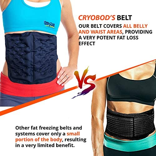 CRYOBOD Fat Freezing Belt |Cold Body Sculpting -Cold Wrap/Belt | Cold Sculpt Target Belly-Waist & Love Handles | Tone Up Stomach | Waist Trainer-Ultimate Freeze Wrap Skin-Safe Cryolipolysis 5
