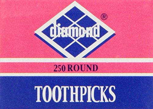 Diamond Round Toothpick Tray, 250 Count
