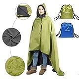 Fancywing Outdoor Stadium Hooded Blanket Waterproof Fleece Blanket Rainproof, Windproof Picnic Camping Backpacking Blanket Hooded Mat Rain Poncho Blanket Pet Blanket