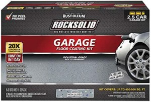 Rust-Oleum 293513 RockSolid Polycuramine Garage Floor Kits, 2.5 Car, Gray