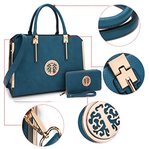 e17eb856d80 MMK collection Women Fashion Matching Satchel handbags with wallet ...