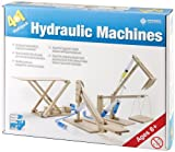 Pathfinders Hydraulic Machines 4-in-1 Wooden Kit (Cherry Picker, Platform Lifter, Excavator, Scissor Lift)