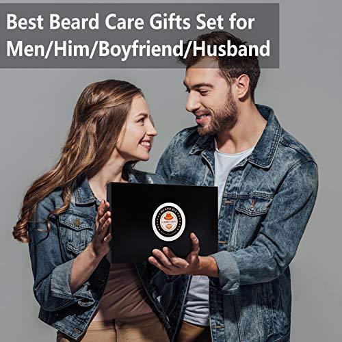 Upgraded Beard Grooming Kit w/Beard Conditioner,Beard Oil,Beard Balm,Beard Brush,Beard Shampoo/Wash,Beard Comb,Beard Scissors,Storage Bag,Beard E-Book,Beard Growth Care Gifts for Men 9