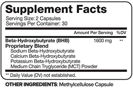 Nutrivein Keto Diet Pills 1600mg - Advanced Ketogenic Diet Supplement - BHB Salts Exogenous Ketones Capsules - Effective Ketosis Best Keto Diet, Mental Focus and Energy, 60 Capsules 5