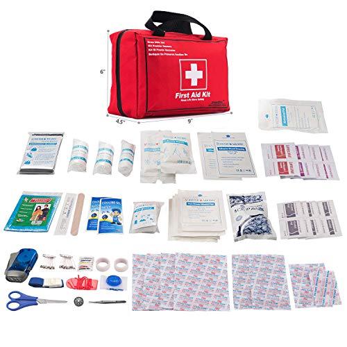 Songwin Botiquín de Primeros Auxilios de 130 artículos,Survival Tools Mini Box -Impermeable Bolsa Médica para el Coche,Hogar,Camping,Caza,Viajes,Aire Libre o Deportes,Pequeño Y Compacto. 2