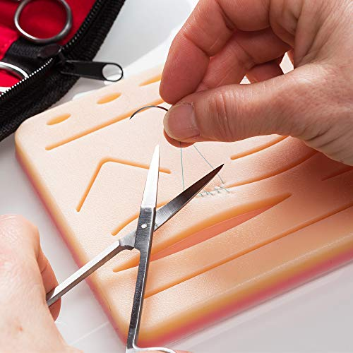 Suture Observe Equipment for Suturing Coaching: Superior 30 Piece Suture Equipment with Giant Pre-Minimize Silicone Wound Suture Pad, Suturing Instruments, four Varieties Threads & Storage Case – Medical Coaching Surgical Sutures deal 50% off 51OqJQHusNL