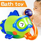 AMENON Baby Bath Spout Toys for Kids Boys Girls Toddlers Shark Bathtub Shower Head Waterfall Spray Water Station Baby Infants Toddler Bathroom Shower Swimming Pool Indoor Outdoor Waterfun Game