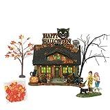 Department56 Snow Village Halloween The Black Cat Flat Lit Building and Accessories, 6', Multicolor