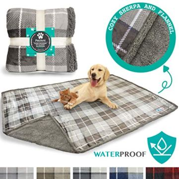 PetAmi-Waterproof-Dog-Blanket-for-Bed-Couch-Sofa-Waterproof-Dog-Bed-Cover-for-Large-Dogs-Puppies-Checkered-Sherpa-Fleece-Pet-Blanket-Furniture-Protector-Reversible-80-x-60-Taupe