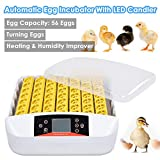 Yescom Digital 56 Egg Incubator Hatcher Temperature Control Automatic Turning with Built-in LED Candler