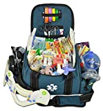 Lightning X Deluxe Stocked Large EMT First Aid Trauma Bag Fill Kit w/Emergency Medical Supplies (Navy Blue)