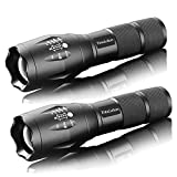 Tactical Flashlight Military Tac Light Pro As Seen On TV TC1200 Flashlights with Adjustable Focus and 5 Light Modes (2 pack)