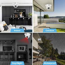 XVIM-1080P-HD-CCTV-Camera-Indoor-Outdoor-Weatherproof-Home-Security-Camera-24-IR-LEDs-85ft-Night-Vision-Can-Adjust-Mode-Support-AHDTVICVIAnalog-Aluminum-Metal-Housing