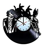 Baden Baden Batman with Joker Vinyl Record Wall Clock - Get unique of home room wall decor - Gift ideas for boys and girls - Unique Art Design
