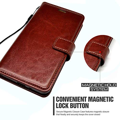 Jkobi Vintage Flip Case Cover for Oppo F15 | Premium Leather | Inner TPU | Foldable Stand | Wallet Card Slots -Brown 8