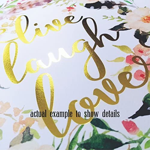 Eleville 8X10 Office Sweet Office Real Gold Foil and Floral Watercolor Art Print (Unframed) Office Quote Wall Art Home Decor Motivational Inspirational Poster Holiday Gifts WG115