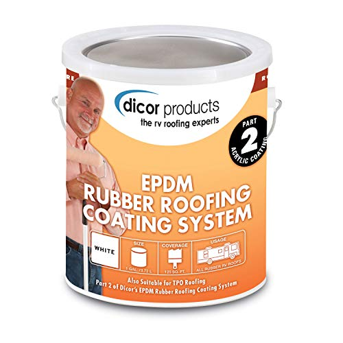 Dicor RP-CRC-1 Rubber Roof Acrylic Coating Wht