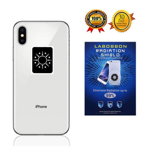 Radiation Protection Shield Sticker, Labobbon EMF Blocker for Cell Phone/Laptop/Tablet/Kindle/Router/Household Appliances| Protect You and Your Family from Radiation | 1.6 x 1.23 inches, Black