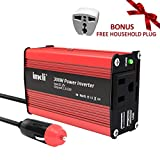 Car Power Inverter, imoli 300W/600W DC 12V to AC 110V Power Converter with AC Outlet Dual 2.1A USB Ports Car Charger Adapter
