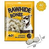 MODONE Rawhide for Dog,40-Count Dog Rawhide Bones Rawhide Free Dog Chew Treats for Small Dog