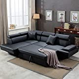 Sofa Sectional Sofa Bed Living Room Sofa Corner Sofa Set Futon Sofa Bed Sleeper Sofa Couch Sofa Faux Leather Queen 2 Piece Modern Contemporary