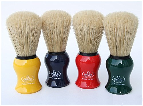 Omega 10065 Boar Bristle Shaving Brush, Assorted Colors 8