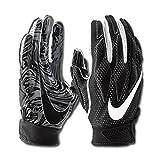 Nike Men's Super Bad 4.5 Football Gloves Black/White (Large, Black/White)