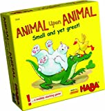 HABA Animal Upon Animal: Small and Yet Great! Pocket Sized Wooden Stacking Game (Made in Germany)