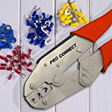 Electroplated Steel Wire Crimper Tool 4 Heat Shrink Wire Connector & Terminals 3 sizes; 22-18 16-14 12-10 AWG, Adjustable Ratcheting 4 perfect crimp. Professional Electrician Tools, Crimping pliers,